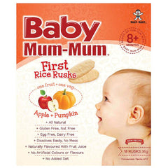 Baby Mum Mum - Rice Rusks - Apply and Pumpkin (18 rusks, 36g)