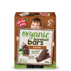 Whole Kids - Organic Barefoot Bars - Cocoa (5 bars, 125g)