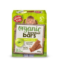 Whole Kids - Organic Barefoot Bars - Apple and Date (5 Bars, 125g)