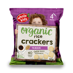 Whole Kids - Rice Crackers Organic - Tamari (60g)