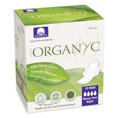 Organyc - Pads Heavy flow with wings - Organic Cotton (folded 10 Pads)