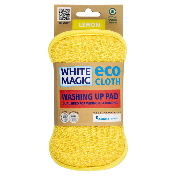 White Magic Eco Kitchen Washing Pad Lemon , Grocery-Cleaning - HFM, Harris Farm Markets  - 1
