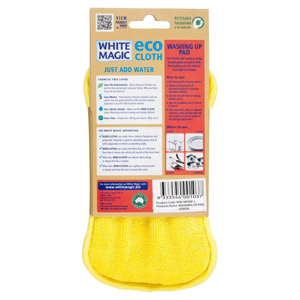 White Magic Eco Kitchen Washing Pad Lemon , Grocery-Cleaning - HFM, Harris Farm Markets  - 2