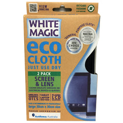 White Magic - Eco Cloth - Screen & Lens (30cm x 30cm, 2pk)