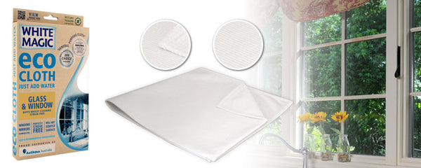 White Magic Glass and Window Eco Cloth each
