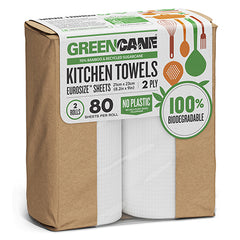 Greencane Kitchen Towels 2 x 80 sheets