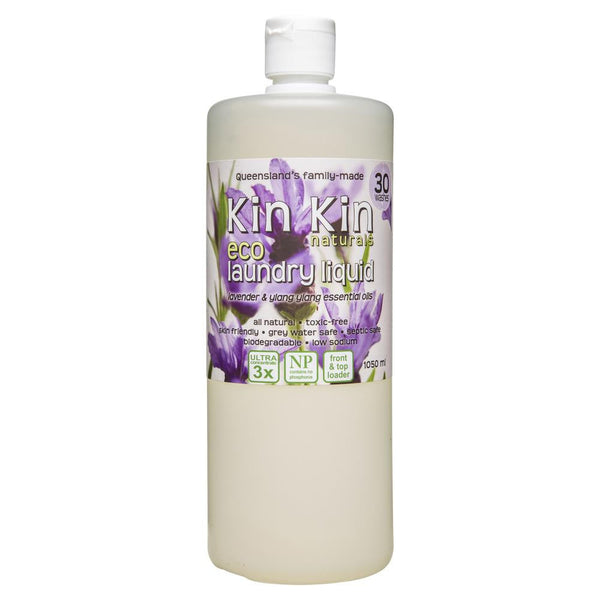 Kin Kin Naturals Eco Laundry Liquid Lavender & Ylang Ylang 1050mL , Grocery-Cleaning - HFM, Harris Farm Markets  - 1
