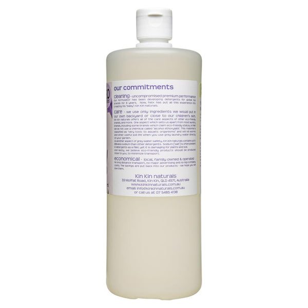 Kin Kin Naturals Eco Laundry Liquid Lavender & Ylang Ylang 1050mL , Grocery-Cleaning - HFM, Harris Farm Markets  - 2