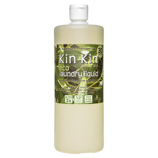 Kin Kin Naturals Eco Laundry Liquid Eucalypt & Lemon Myrtle 1050mL , Grocery-Cleaning - HFM, Harris Farm Markets  - 1