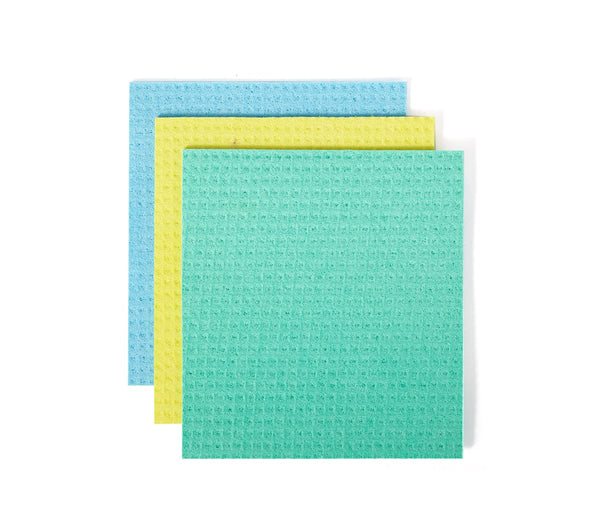 Full Circle - Cellulose Sponge Cloths - Squeeze (7inx 8in, 3pk)