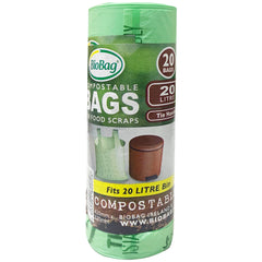 Biobag Compostable Tie Top Bags 20 x 20L