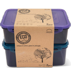 LocknLock Eco Rectangular Set 2 Pieces Container | Harris Farm Online