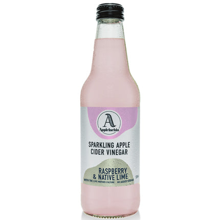 Applelachia Sparkling Apple Cider Vinegar Raspberry and Native Lime | Harris Farm Online