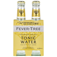 Fever-Tree - Premium Indian Tonic Water (4 Glass Bottles X 200mL)