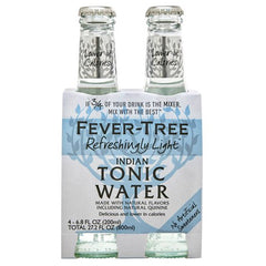 FeverTree Refreshingly Light Indian Tonic Water 4x200ml