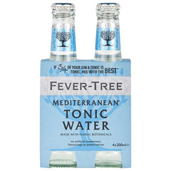 Fever-Tree - Mediterranean - Tonic Water (4 Glass Bottles X 200mL)