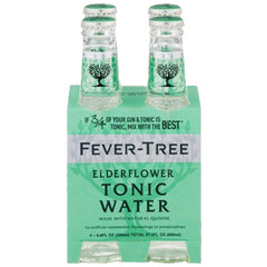 Fever-Tree - ElderFlower - Tonic Water (4 Glass Bottles X 200mL)