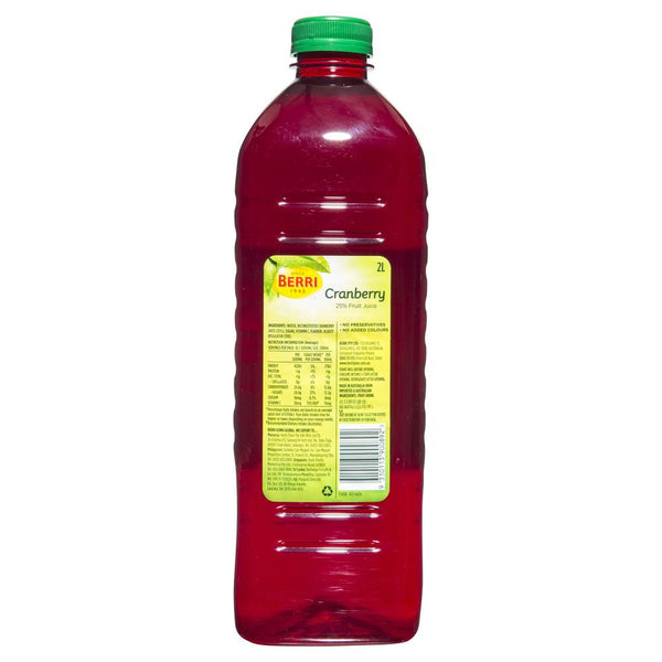 Berri Cranberry Fruit Juice 2L , Grocery-Drinks - HFM, Harris Farm Markets  - 2