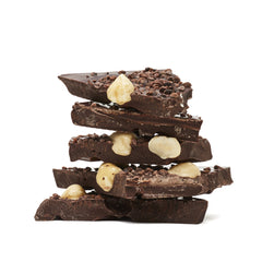 Koko Black Dark Chocolate Hazelnut and Caramelised Cocoa Nibs 100g