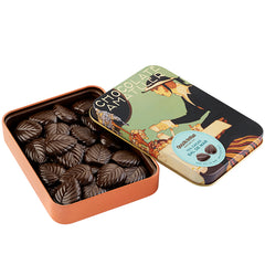 Amatller 70% Cacao Chocolate with Sea Salt Leaves Tin | Harris Farm Online