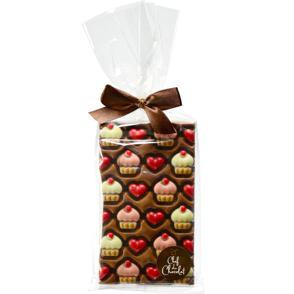Chef Du Chocolat Hearts and Cupcakes Chocolate | Harris Farm Online