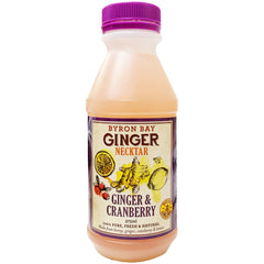 Byron Bay Ginger Necktar Ginger and Cranberry 375ml