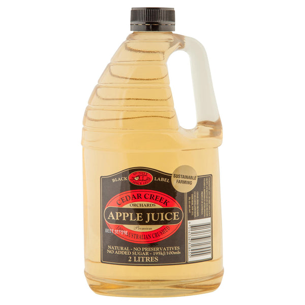 Cedar Creek Apple Juice 2L , Grocery-Drinks - HFM, Harris Farm Markets  - 1