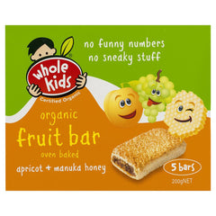 Whole Kids Apricot Bar 200g , Grocery-Confection - HFM, Harris Farm Markets  - 1