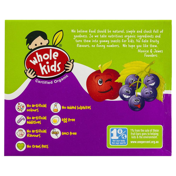 Whole Kids Blkcurrant Bar 200g , Grocery-Confection - HFM, Harris Farm Markets  - 2