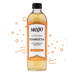Mojo - Drinks Kombucha Org Sparkling Probiotic - Ginger Tonic (330mL)