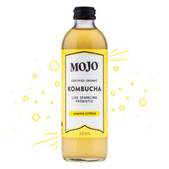 Mojo - Drinks Kombucha Org Sparkling Probiotic - Lemon Citrus (330mL)
