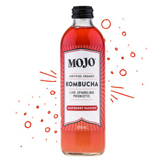 Mojo - Drinks Kombucha Org Sparkling Probiotic - Raspberry Passion (330mL)