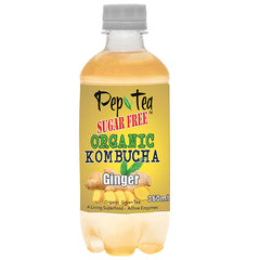 PepTea - Drinks Organic GreenTea Kombucha - Ginger (350mL)