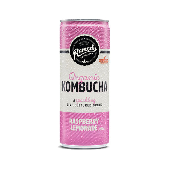 Remedy Organic Kombucha Raspberry Lemonade | Harris Farm Online