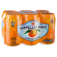 San Pellegrino Can Aranciata 6 X 330ml , Grocery-Drinks - HFM, Harris Farm Markets  - 1
