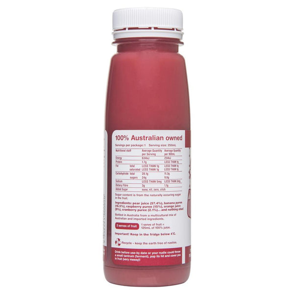 Nudie Cranberry Raspberry More Crushie 250mL , Frdg1-Drinks - HFM, Harris Farm Markets  - 1