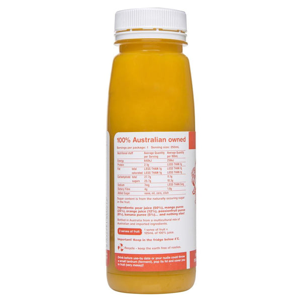 Nudie Mango Passionfruit More Crushie 250mL , Frdg1-Drinks - HFM, Harris Farm Markets  - 2