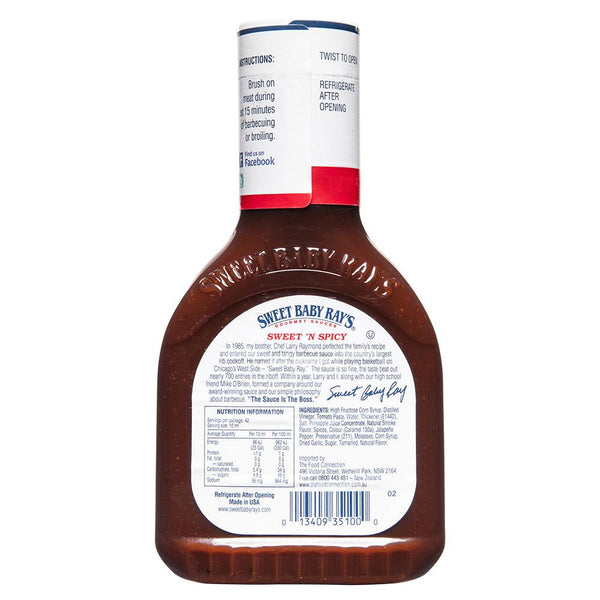 Sweet Baby Rays Sweet N Spicy Barbecue Sauce 425mL , Grocery-Cooking - HFM, Harris Farm Markets  - 2