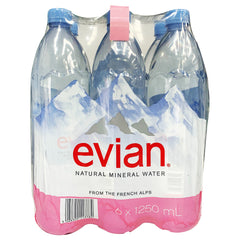Evian - Drinks Natural Mineral Water (6 x 1.25L)