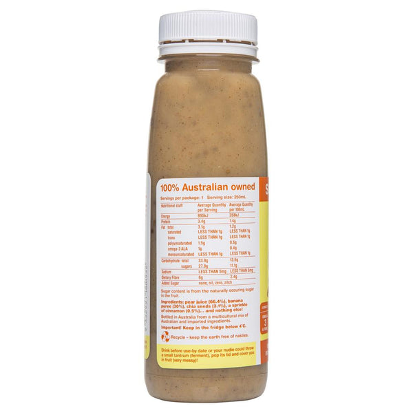 Nudie Super Fibre Pear Banana Chia Seed Cinnamon 250mL , Grocery-Drinks - HFM, Harris Farm Markets  - 2