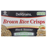Deligrains Black Sesame Brown Rice Crisps 100g , Grocery-Biscuits - HFM, Harris Farm Markets  - 2