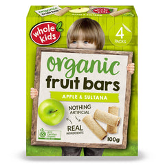 Whole Kids - Organic Fruit Bars - Apple and Sultana (4 Bars, 100g)