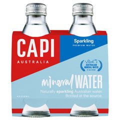 Capi - Sparkling Mineral Water - Grass Bottles (4 X 250mL)