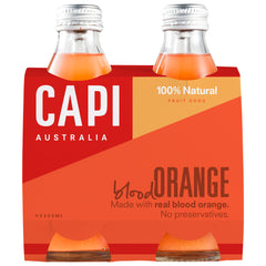 Capi - Fruit Soda - Blood Orange (4 Glass Bottles X 250mL)