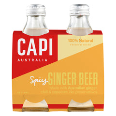 Capi - Spicy Ginger Beer Mixer (4 Glass Bottles X 250mL)