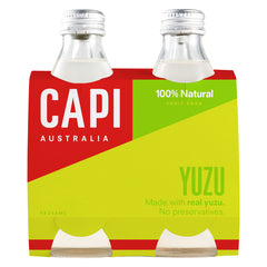 Capi - Fruit Soda - Yuzu - Grass Bottles (4 X 250mL)