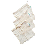 Harris Farm - Mesh Bags - Organic Cotton Fruit & Veg (3 x SMALL Reusable Bags)