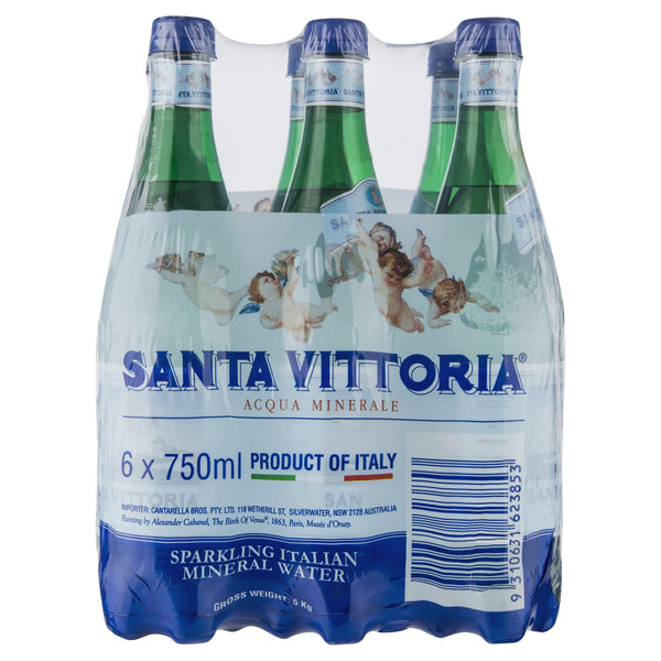 Santa Vittoria Sparkling Water 6 X 750ml , Grocery-Drinks - Harris Farm Markets, Harris Farm Markets  - 2