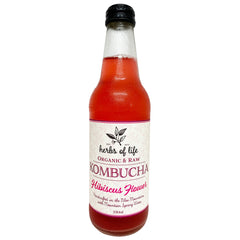 Herbs of Life Drinks Hibiscus Flower Organic Kombucha 330ml