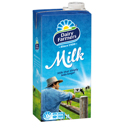 Dairy Farmers - Milk UHT Long Life - Full Cream (1L)